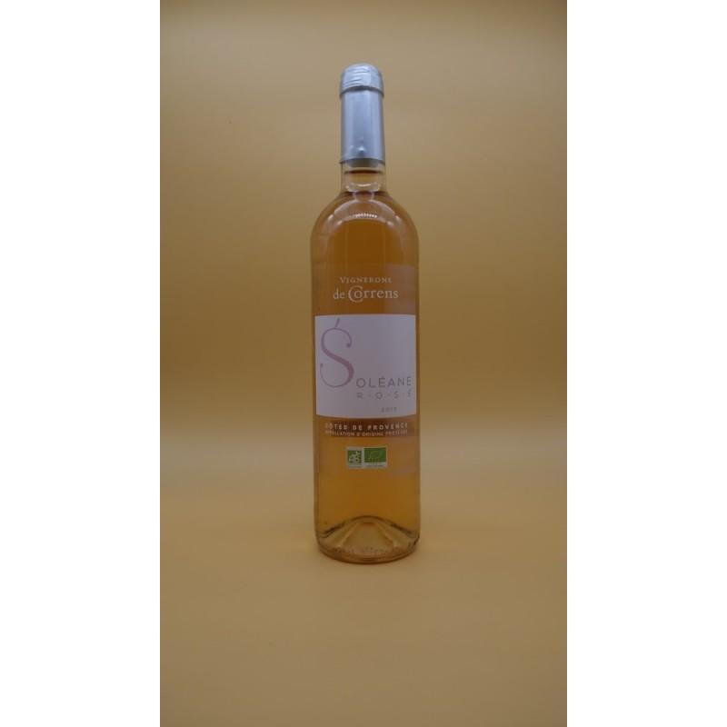 Vin rosé Côtes de Provence Soléane AOP BIO 75cl