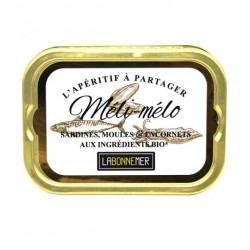 Sardines et moules à l'huile d'olive ail persil